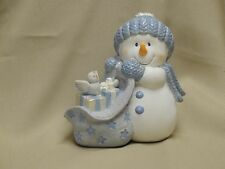 "3.5"" CHRISTMAS CREATIONS RESIN TABLETOP BLUE AND WHITE SNOWMAN"