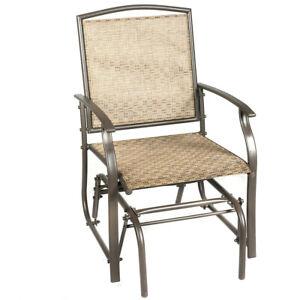 Patio Glider Rocking Chair Bench Loveseat Person Rocker Deck Outdoor Furniture