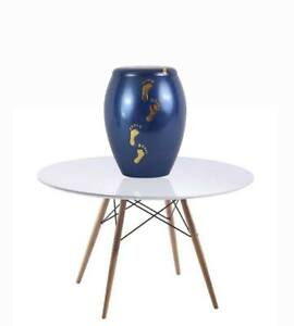 Stunning blue cremation urn specially designed for a child's or babies ashes