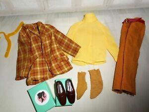 Vintage Barbie KEN BOLD GOLD #1436 JACKET YELLOW SHIRT PANTS BELT SOCKS SHOES