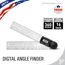 Electronic Digital Angle Finder 8 Protractor Ruler Stainless Lcd With Batteries