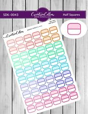 SDK-0043 Planner Stickers Functional 60 Half Squares for any Planner