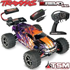 Traxxas 1/16 E-revo VXL Brushless 4wd RTR RC Truck Purple W/tsm ID & Charger