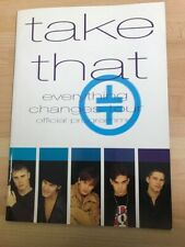 Hand Signed Take That Official Tour Programme & Tickets Wembley Stadium Arena