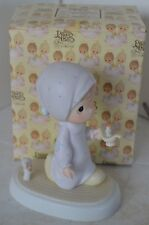 Precious Moments Porcelain Figure 1983 Jesus Is The Light That Shines With Box