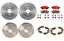 For Geo Prizm '93-'97 Front Disc Rotors Ceramic Pads Rear Drums Shoes Kit Brembo