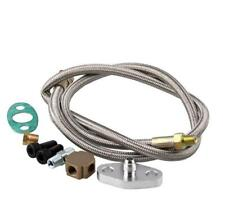 Turbo Oil Inlet Feed Line Adapter Kit For T3 Turbo Turbocharger Stainless Steel