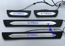 LED Door sill scuff plate Bule trim For Nissan X trail T32 2014-up