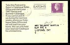 Eatons Canada Postal Stationery Postcard Catalog Ad