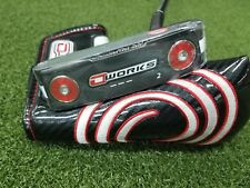 "New Odyssey O-Works #2 Black/White Golf Putter Rh 35"" Super Stroke Pistol"
