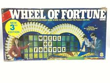 Wheel of Fortune Game 3rd Edition 1987 Vintage 2-4ppl 8-adult #5555 Pressman