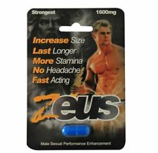 Zeus Male Sexual Supplement 1 Count Pill Capsule Male Enhancer 48039