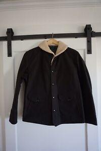 Stevenson overall Co Roebuck Charcoal Sz 40 Moleskin Wool Coat