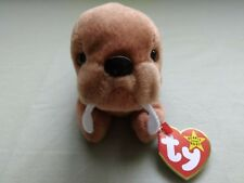 Ty Beanie Babies SUPER-RARE-TUCK-TUSK-AUTHENTICATED-PVC
