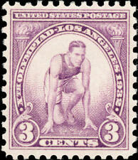 1932 3c Summer Olympics, Runner at Starting Mark Scott 718 Mint F/Vf Nh