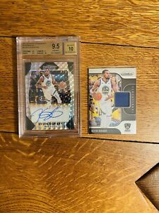 2017 Prizm Kevin Durant Silver Mosaic Prizm Auto /49 BGS 9.5/10 and Game Worn