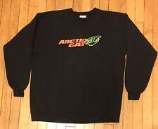 Vintage Arctic Cat Racing Sweatshirt Mens Size XL Crewneck Black Snowmobile