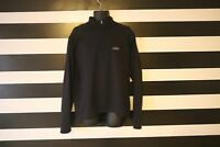 Patagonia Men's Sweatshirt 1/2 Zip Back Pocket Black Long Sleeve Size XL