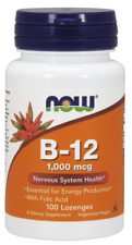 NOW FOODS Vitamin B12 1000 mcg 100 Lozenges FREE SHIPPING