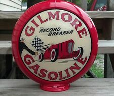 "Gilmore Gasoline Gas Pump Globe 13.5"" Cabin Man Cave Home Den Garage Shop Decor"