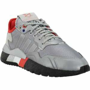 adidas Nite Jogger Lace Up  Mens  Sneakers Shoes Casual   - Silver