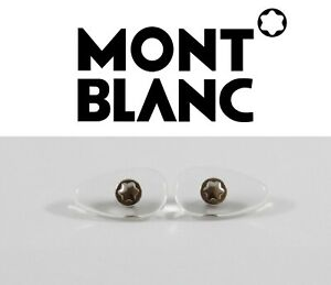 Replacement Screw-in Nose Pads for MONTBLANC Eyeglasses Sunglasses frames SILVER