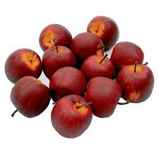 12 X Déco Pommes Grand Ø 5,5cm, D Rouge/Jaune Mat Artificiel Pomme Fruits