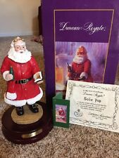 "Duncan Royale Musical Soda Pop Musical Santa Figurine 11"" Tall Euc in Box"