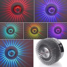 Neu LED RGB 3W Dekor Wandlampe Wandleuchte Effektlicht Deckenlampe Deckenleuchte