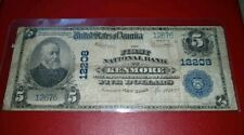➡ 1902 Large Size #12208 Charter $5 First National Bank of Kenmore New York RARE
