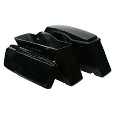 Glossy ABS Saddlebags Fit For Harley Left Right Hard Saddle Bag Touring FL 94-13
