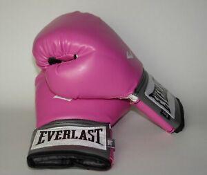 Everlast Women's Boxing Pro Style Training Gloves Pink Black 8oz Level 1 2508W