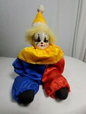 "Rare Vintage Artmark Clown Porcelain Head Doll by Chicago Dolls Harlequin 10"""