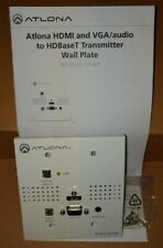 New listing Atlona Athdvs150Txwp Hdmi and Vga/Audio to HdbaseT Transmitter Wall Plate(White)