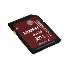Kingston 64 GB SDXC - Class 3/UHS-I - 90 MB/s Read - 80 MB/s Write