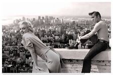 Marilyn Monroe Elvis Presley Vintage Photo - Quality Canvas Art Print A4