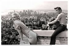 "Marilyn Monroe Elvis Presley Vintage Photo - Quality Canvas Art Print 12x8"""