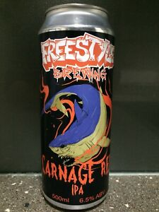 1 X 500ml Freestyle Brewing - Carnage Red Sticker Beer Can (First Label)