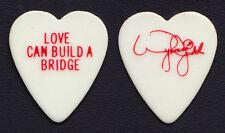 The Judds Wynonna Judd Signature White/Red Heart Guitar Pick - 1990 Bridge Tour