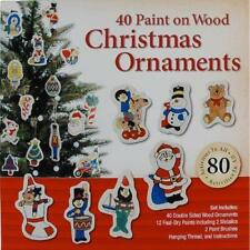 40 Paint On Wooden vintage Christmas Decorations great for kids xmas children