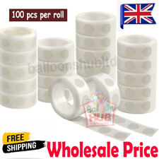100 Adhesive Dots Tape Double Sided Glue Sticky Sticker Balloon DIY Clear Decor