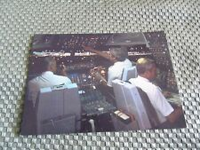 SAS AIRLINES VINTAGE DC-10 NIGHTTIME FLIGHT DECK VIEW POST CARD