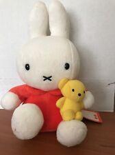 Miffy Cute Rabbit Dick Bruna Plush doll 8.6 inch with mini Boris bear Japan Used