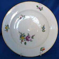 Ludwigsburg Porcelain Hand Painted Floral Plate 18C Antique German Continental