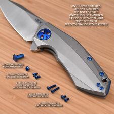 Zero Tolerance ZT0456 456 ZT Knife Titanium 8pc Custom Screw and Nut Set - BLUE
