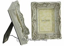 TWINPACK Shabby & Chic Very Ornate Antique Silver Photo Frames for 6x4 pictures