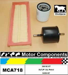 FILTER SERVICE KIT for Peugeot 306 N3 XT XU7JP 1.8L Petrol 04/94>97