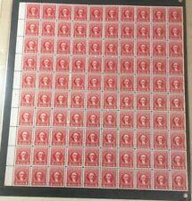 #R657 4 cent Documentary internal revenue stamps full mint sheet of 100 MNH OG