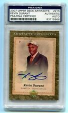 Kevin Durant 2007 Upper Deck Artifact Auto PSA/DNA Certified Authentic Rookie RC