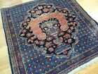 2x2 small square decorative tapestry seat mat desk Rug wool Rust